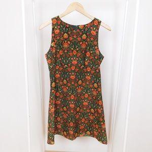 Vintage Floral Green Mod Dress